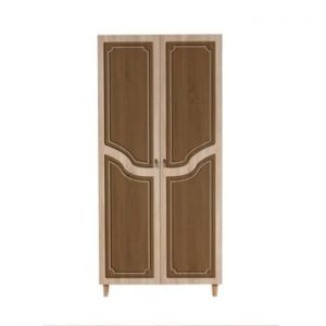 Dulap cu 2 uși Stil Retro Brown, 90 x 192 cm