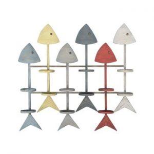 Suport de perete pentru sticle Mauro Ferretti Fish, 70,5 x 64 cm