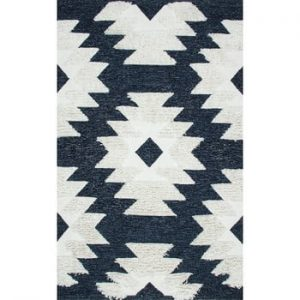 Covor din bumbac Eco Rugs Navy Indian, 120 x 180 cm