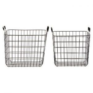 Set 2 coșuri depozitare Premier Housewares Wire, negru