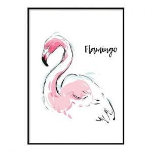 Poster DecoKing Flamingo Aquarelle, 50 x 40 cm