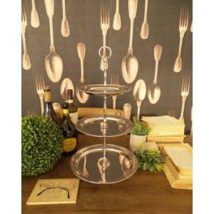Tavă pentru servit cu 3 nivele Orchidea Milano Lounge Club, ⌀ 26 cm