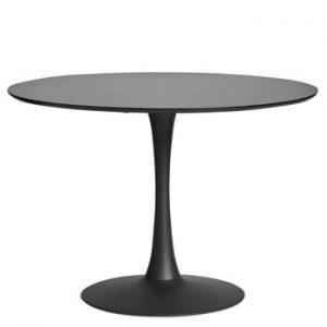Masă Marckeric Oda, ⌀ 110 cm, negru
