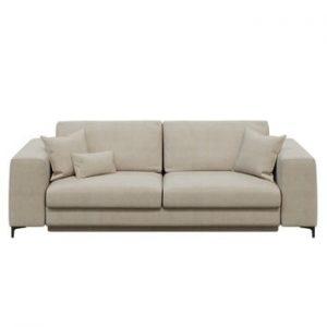 Canapea extensibilă cu 3 locuri devichy Rothe, bej deschis