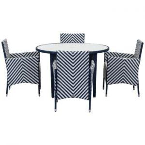 Set de mobilier pentru grădină Safavieh Malaga, albastru alb