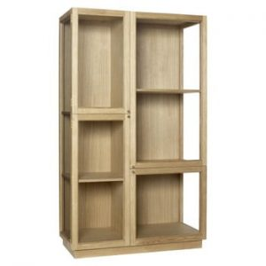 Vitrină Hübsch Oak Display Cabinet, înălțime 187 cm
