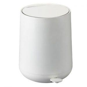 Coș de gunoi cu pedală Zone Nova, 5 l, alb