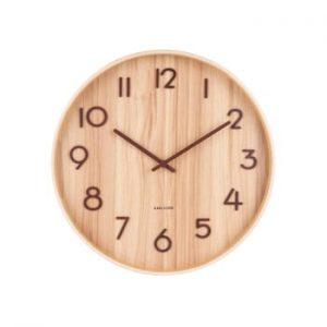 Ceas de perete din lemn de tei Karlsson Pure Large, maro deschis, ø 60 cm