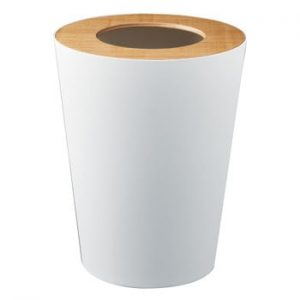 Coș de gunoi YAMAZAKI Rin Round, alb