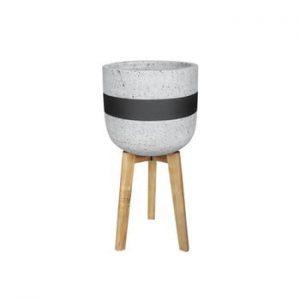 Suport din beton pentru flori PT LIVING Radius, gri