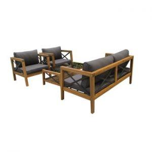 Set mobilier de grădină din lemn exotic Ezeis Balthazar