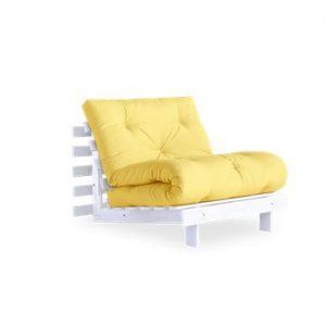 Fotoliu extensibil Karup Design Roots White/Yellow