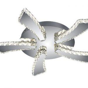 Plafonieră LED Trio Phin, ⌀ 55 cm, argintiu