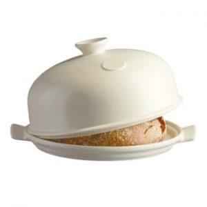 Formă rotundă de copt pâine Emile Henry, ⌀ 34 cm, alb fildeș