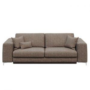 Canapea extensibilă cu 3 locuri devichy Rothe, bej închis