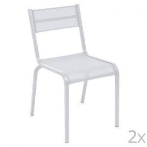 Set 2 scaune de grădină Fermob Oléron, alb