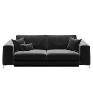 Canapea extensibilă cu 3 locuri devichy Rothe, gri închis