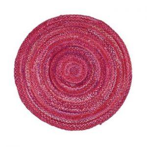 Covor din bumbac Eco Rugs, Ø120cm, roz