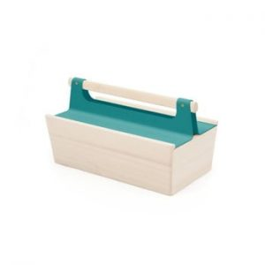 Cutie depozitare din lemn de frasin HARTO, albastru