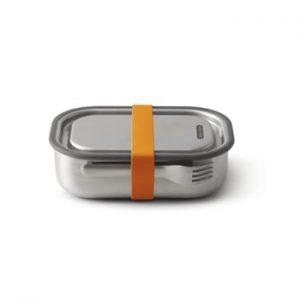 Cutie din oțel inoxidabil pentru gustări și curea portocalie Black + Blum, 1000 ml