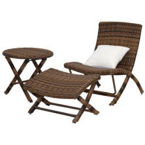 Set de mobilier pentru grădină Safavieh Havana, maro
