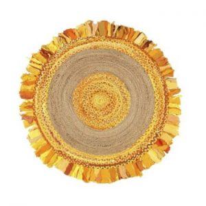 Covor din iută și bumbac Eco Rugs Gold, Ø120cm