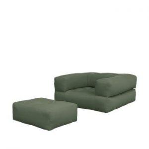 Fotoliu extensibil Karup Design Cube Olive Green, verde