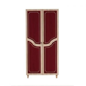 Dulap cu 2 uși Stil Retro Red, 90 x 192 cm