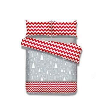 Lenjerie de pat din flanel AmeliaHome Christmas Mess, 200 x 200 cm
