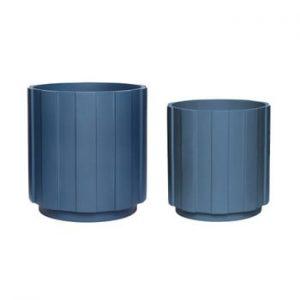 Set 2 ghivece Hübsch Palerro, albastru închis