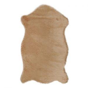 Covor din blană artificială Dione, 100 x 75 cm, maro