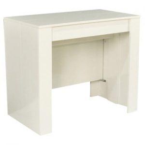 Consolă extensibilă Evergreen House Glossy, alb