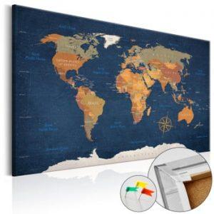 Hartă decorativă a lumii Bimago Ink Oceans 90 x 60 cm
