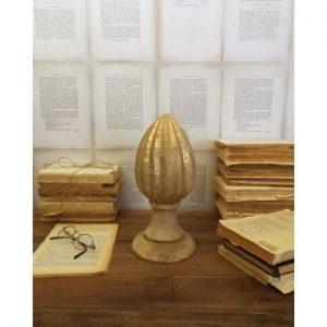 Decorațiune din lemn de mango Orchidea Milano Pinecone, înălțime 26 cm