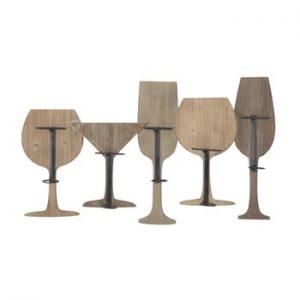 Suport de perete pentru 5 sticle de vin Mauro Ferretti Wine