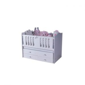 Pat copii cu spațiu pentru depozitare Mezzo Sahra White, 70 x 130 cm, alb