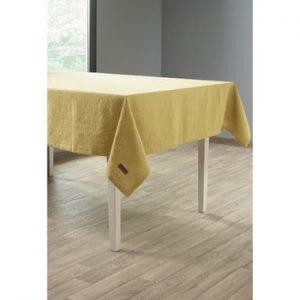 Față de masă cu adaos de in Tiseco Home Studio, 135 x 240 cm, galben