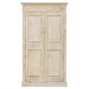 Dulap din lemn cu 2 uși Støraa Kakoli, alb