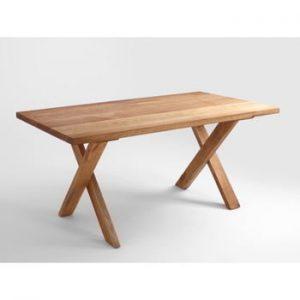 Masă din lemn de stejar Custom Form Mavet, 160 x 90 cm