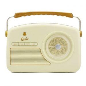 Radio GPO Rydell Nostalgic Dab Radio Cream, crem alb