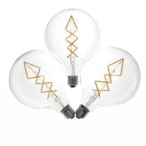 Set 3 becuri LED Bulb Attack BUBBLE Lattice, 6,5 W