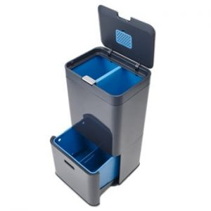 Coș deșeuri reciclabile Joseph Joseph IntelligentWaste Totem 58, gri