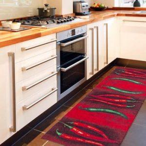 Covor de bucătărie foarte rezistent Floorita Peperoncini, 60x150cm