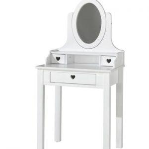 Masă de toaletă Vipack Amori, înălțime 136 cm, alb