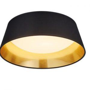 Plafonieră LED Trio Ponts, ⌀ 34 cm, negru