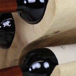 Suport din lemn de suar pentru sticle HMS collection, înălțime 51 cm