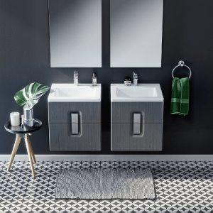Lavoar pe mobilier Kolo Twins slim 50x46 cm