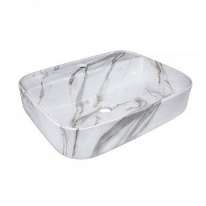 Lavoar pe blat Rune Marble 50x40 cm