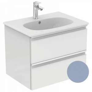 Set mobilier suspendat si lavoar Ideal Standard Tesi 60 cm albastru mat