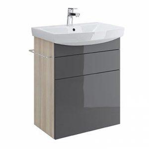 Mobilier pentru lavoar cu sertare Cersanit Smart 70 cm gri